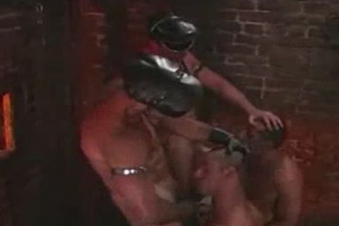 Leather Hunks In A Basement