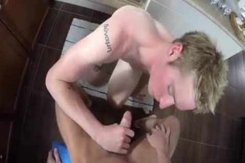 blonde lad Sucks penis And receives Rimmed In Pov