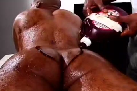 Two darksome males With Food Fetish group sex Hard