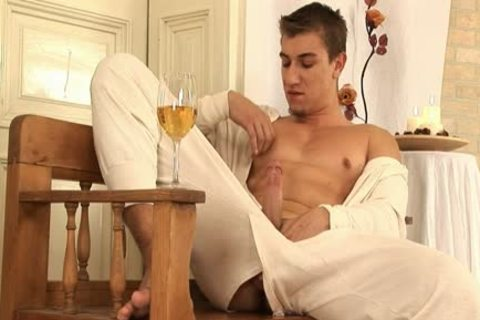 This handsome homosexual man Comes Home And Drinks Some Wine previous to His Has A Sensual Self Devotion Session